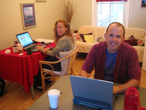 due co-worker nel primo spazio co-working a San Francisco